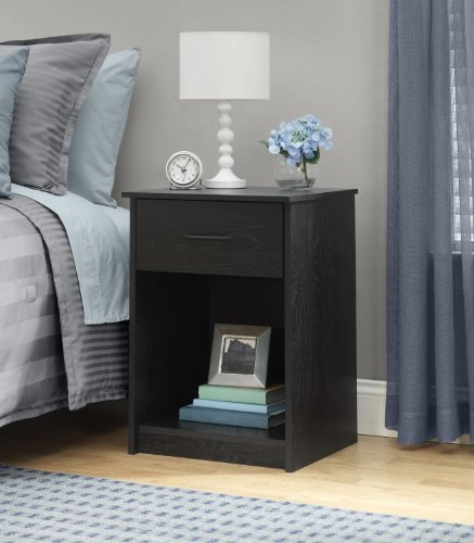 Buy Discount Ameriwood Night Stand, Black Ebony