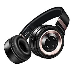 Wireless Headphones, Sound Intone P6 Stereo Bluetooth Headphones with Microphone Over-ear Foldable Portable Music Headsets for Cellphones Laptop Tablet TV Headphones (Black Copper)