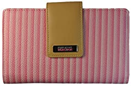 194534-877 Kenneth Cole Reaction Utility Clutch Marbled Style W/ Mirror (PINK CHEVRON)