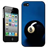 Lucky Magic Black Pool Ball Number 8 Hard Case For Apple iPhone 4 & 4S