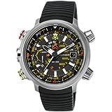 Men's Citizen Eco-Drive Promaster Altichron Black Rubber Strap Titanium Watch