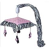 Musical Mobile for Pink Minky Zebra Baby Bedding Set