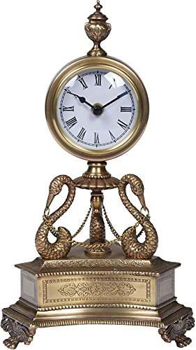 Elizabeth Marshall 43-12-13995 Brass Table Clock - Decoratives