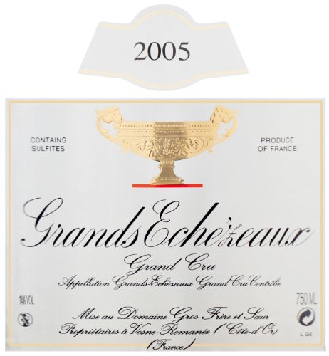 2005 Bernard Gros Frere Et Soeur Grand Cru Grands Echezeaux 750 Ml