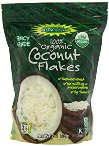 Edward & Sons Trading Co Coconut Flakes, Og, 7 Ounce (Pack of 12)