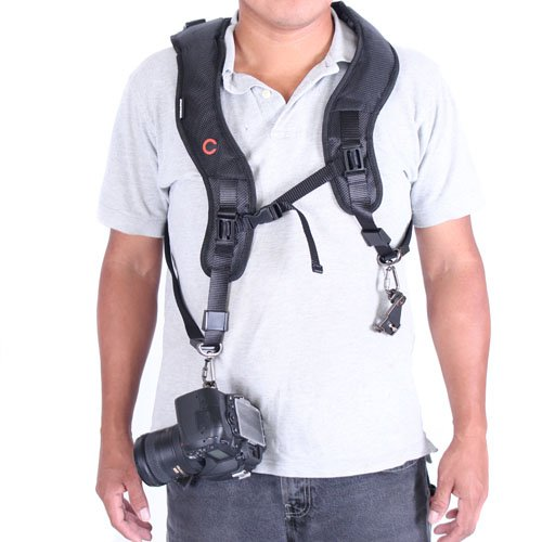 Cowboystudio Premium Capa Double Shoulder Camera Harness / Strap For Canon Nikon Olympus Pentax Panasonic And Sony Slr Dslr Cameras