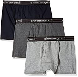 Chromozome Men's Cotton Trunk (Pack of 3) (8902733346931_TC 04_Medium_Navy, Grey and Charcoal)