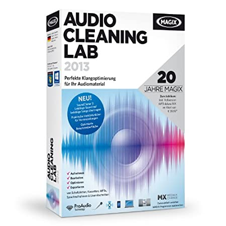 MAGIX Audio Cleaning Lab 2013 (Jubiläumsaktion inkl. MP3 Maker MX)