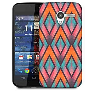 Snoogg Colorful Triangles Designer Protective Phone Back Case Cover For Moto X / Motorola X