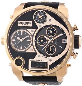Diesel DZ7261 - Reloj cronógrafo de cuarzo para hombre con correa de piel, color negro