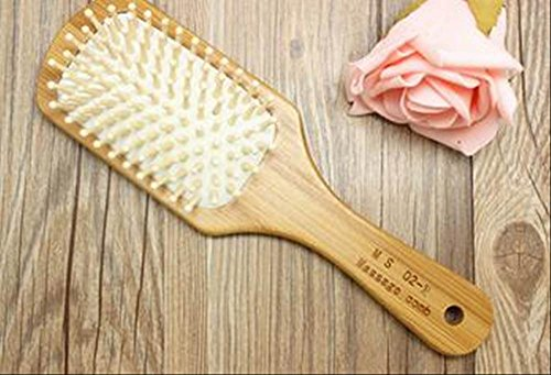 竹素材 グリップ の マッサージ ブラシ シャンプー 前の 髪 の もつれ の解消 や ほこり 除去 にも