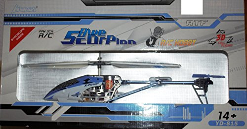 Attop Tons R/C Helikopter - Hubschrauber - blue Skorpion - Hobby - ca. 35 cm - ab 14 Jahre