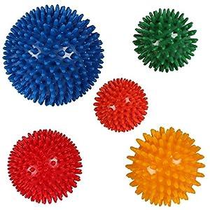 POWRX Massageball Massagebälle 5er Set Noppenball Igelball auch einzeln (5 er Set)