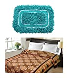 Christys Collection Floral Blends Buy 1 Double Blanket and Get 1 Cotton Mat - Multicolour