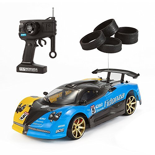 DeluxeRC Track Racer with Drifting Power 1:14 4WD Remote Control (Racing Tires & Drift Tires - Style B) 27MHz (Drifting Rc Cars compare prices)