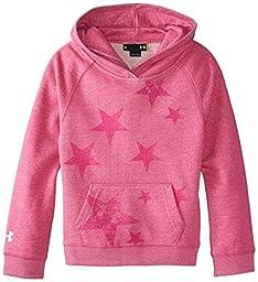 Under Armour Little Girls\' UA Kaleidostar Hoody, Pink Essence Heather, 4