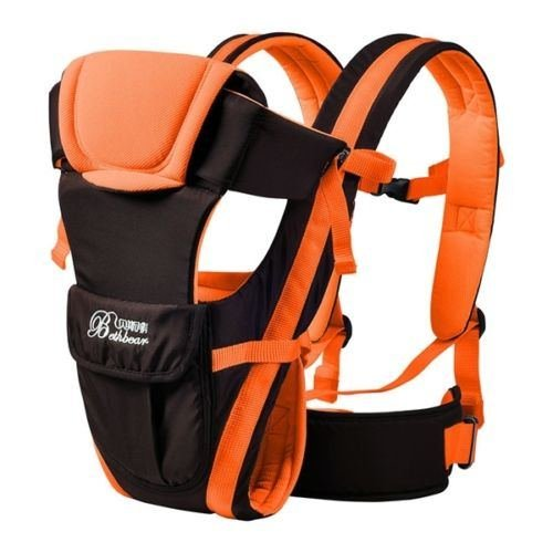 Baby Carrier Adjustable Infant Newborn Kid Comfort Wrap Rider Sling Backpack color Orange