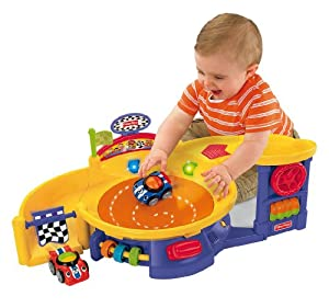 fisher price lil 39 zoomers spinnin 39 sounds speedway toys games. Black Bedroom Furniture Sets. Home Design Ideas
