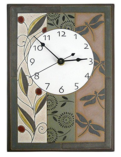Nature's Tapestry Ceramic Wall Clock, 7.5 x 10.5