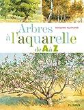 Arbres à l'aquarelle de A à Z : 24 Essences d'arbres étape par étape
