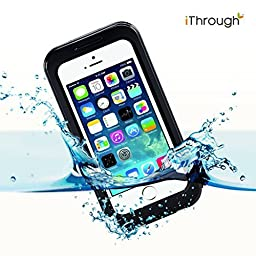 iPhone 5s Waterproof Case, iThrough Waterproof, Dust Proof, Snow Proof, Shock Proof Case with Touched Transparent Screen Protector, Waterproof Protection up to 20ft, Heavy Duty Protective Carrying Cover Case for iPhone 5/5s/4/4s (Black)