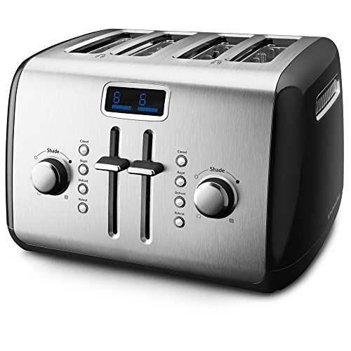 KitchenAid KMT422OB 4-Slice Toaster with Manual High-Lift Lever and Digital Display - Onyx Black (Kitchenaid Toaster Oven Black compare prices)