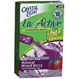 Crystal Light On-the-Go Live Active Natural Mixed Berry, 10-Count Packets (Pack of 6) ~ Crystal Light