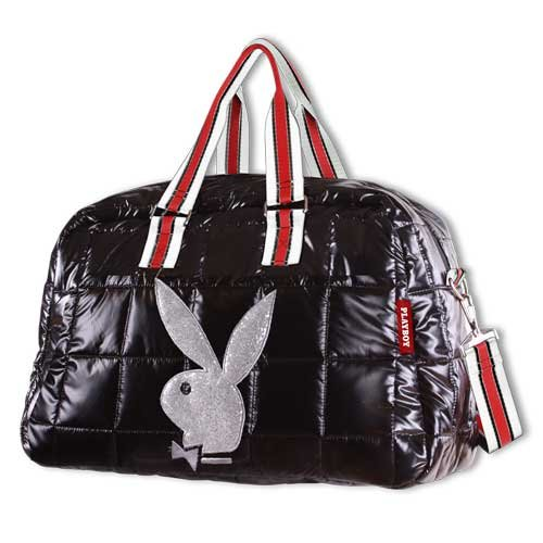 *Exclusiv* Playboy borsa da viaggio Travel Bag nero in pelle