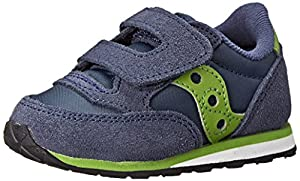 Saucony Boys Baby Jazz Hook and Loop Sneaker (Toddler/Little Kid), Navy/Green, 11 M US Little Kid