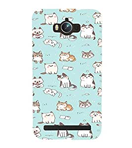 iFasho Animated Design Many Cat Back Case Cover for Asus Zenfone Max