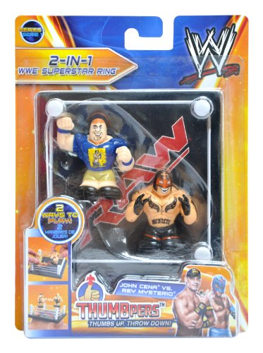 John Cena & Rey Mysterio Thumbpers 2 Pack with Ring RAW
