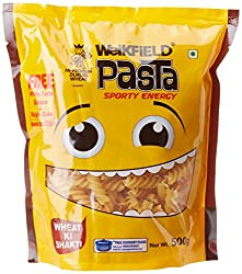 Weikfield Pasta Fusilli, 500g with Free White Pasta Sauce with Magic Cube, 25g