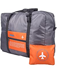 PETRICE Unique Foldable BAG,Polyester Material, Large Capacity Waterproof Foldable Lightweight Luggage Bag (ORANGE...