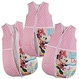 -Saco de dormir para bebé Minnie Ratón de Color Rosa Bebé Saco de dormir Saco de dormir infantil para las cuatro estaciones rosa rosa Talla:68/74