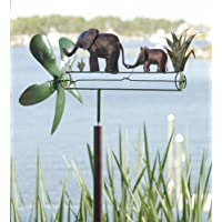 Mother and Baby Elephant Whirligig