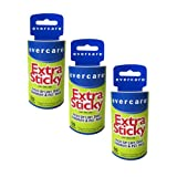 Evercare EXTRA Sticky Roller REFILL (3 PACK - 180 Sheets)