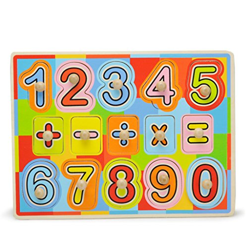 TOPBRIGHT Wooden Number Puzzle Play