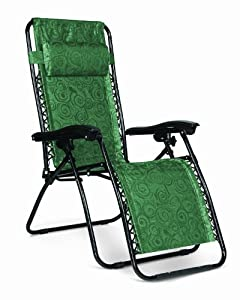 Camco Zero Gravity Recliner Chair (Green, Black Swirl or Tan Fern) $37.99