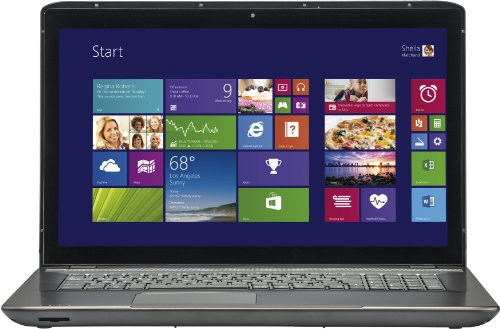 Medion E7225T/MD 98591 43,9 cm (17,3 Zoll) Notebook (Intel Quadcore N3510, 2GHz, 4GB RAM, 1TB HDD, Win 8) titan