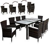 PolyRattan Sitzgruppe 8+1 Gartenmöbel Lounge Sitzgarnitur Gartenset Garten Rattan