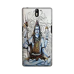 OnePlus One Perfect fit Matte finishing Shiva Religious Mobile Backcover designed by Aaranis(Multicolor)