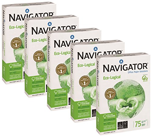 Navigator Eco-Logical Paper A4 75gsm 5 reams (5x500 Sheets)