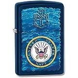 Zippo Pocket Lighter Zippo US Navy Water Logo Pocket Lighter, Navy Blue Matte
