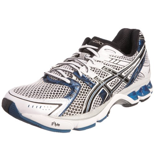 Asics Men's Gel 3020 Running Shoe White/Black/Royal T049N0190 11.5 UK