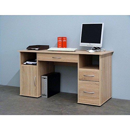 CRAVOG-Schreibtisch-Computertisch-Eiche-Sgerau