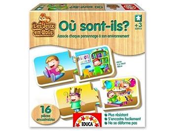 Educa Borras - 14562 - Jouet Premier Age - Où Vivent-Ils ?