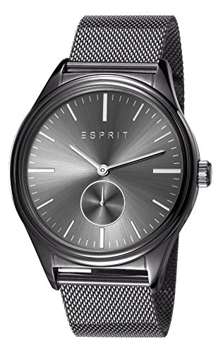 Para hombre Esprit Barton reloj infantil de cuarzo con esfera analógica gris y gris correa de acero inoxidable de ES108011004