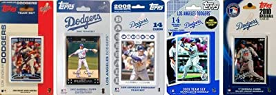 MLB Los Angeles Dodgers 5 Different Licensed Trading Card Team Sets