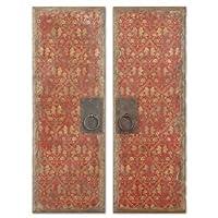Uttermost Red Door Panels Set/2