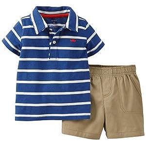 Carters 18 Month 2-Piece Jersey Top & Poplin Shorts Set Navy